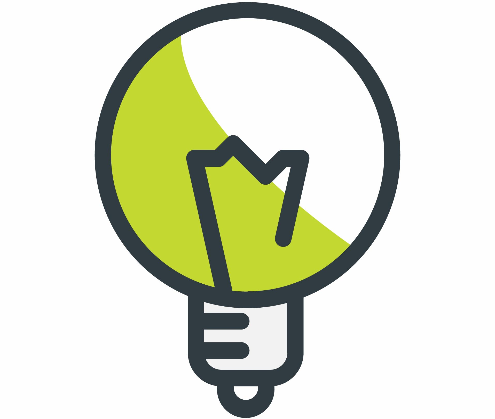 Green and grey energy efficient light bulb