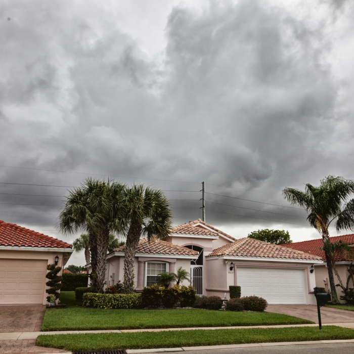 Florida Home in Storm