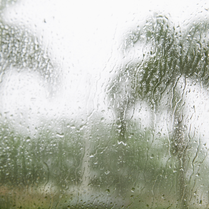 Raindrops on Hurricane Impact Resistant windows