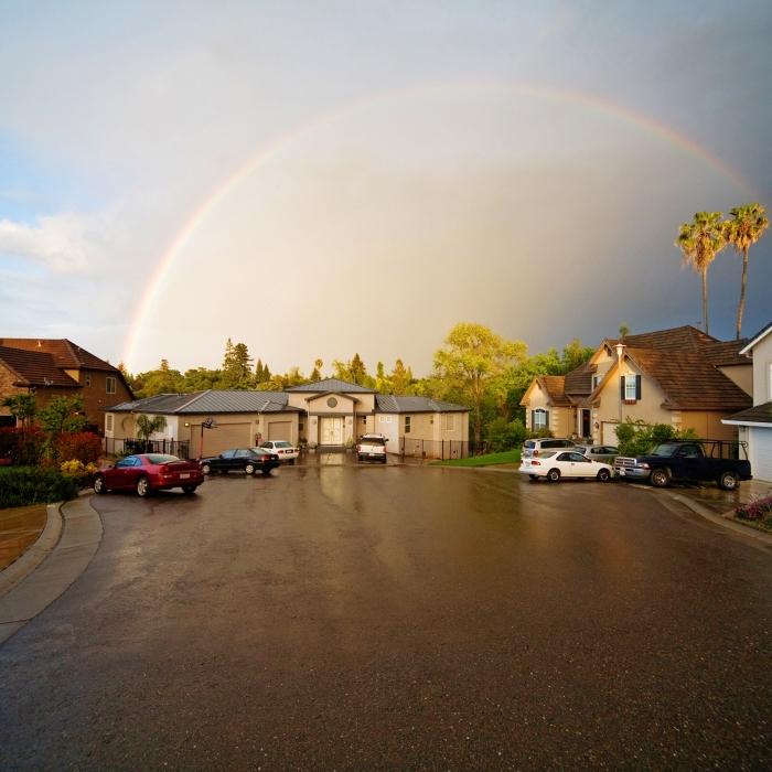 Rainbow over Neighborhood