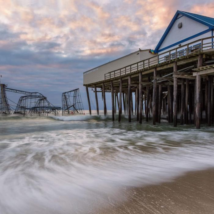 Hurricane Sandy strikes Jersey coast