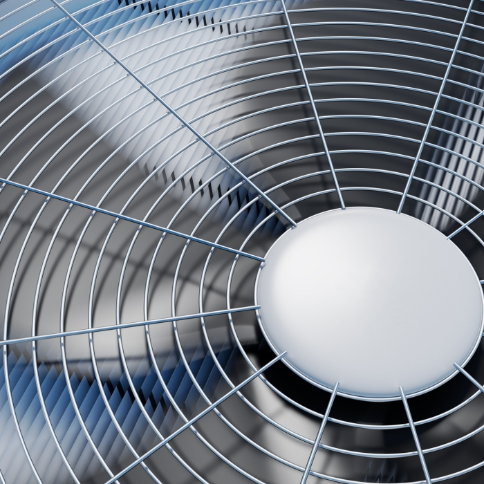 closeup of air conditioning fan